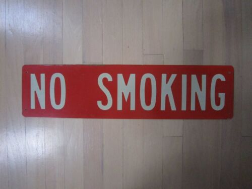Vintage No Smoking Industrial Cool Red Sign