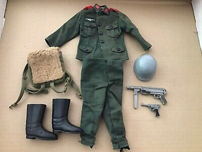 Vintage Action Man German Stormtrooper Outfit And Accessories
