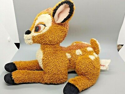 VTG Disney Store Bambi Plush 11 Inches Brown Stuffed Animal Toy Realistic Soft