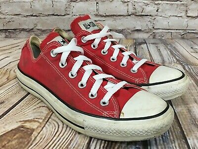 CONVERSE All Star Low Tops RED Athletic Unisex Sneaker Shoes Women's 9