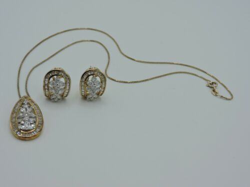 925 Sterling Silver QZ Necklace Earrings Set Italy