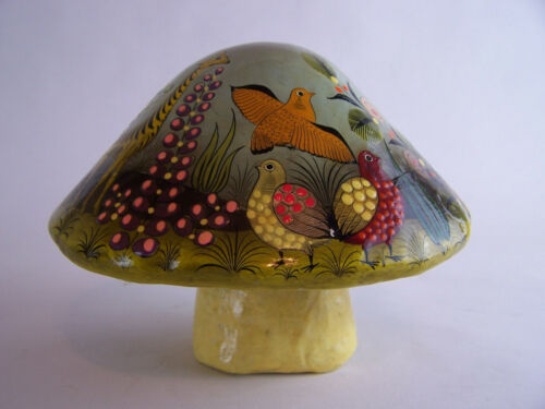 An Early Sergio Bustamante Papier Mache Painted Toadstool - 9 x 7 inches - c1970