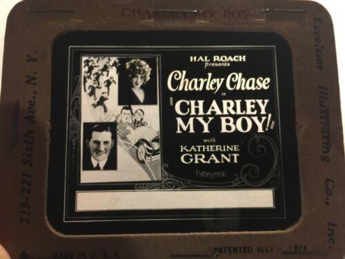 Charlie Chase Very Rare Original Movie Magic Lantern Slide