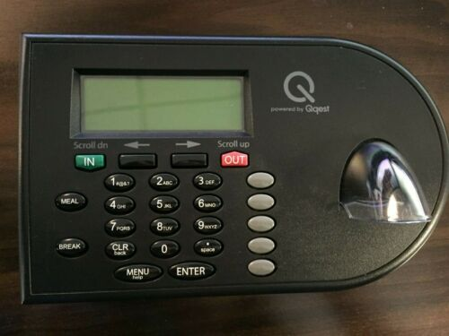 Qqest iSolved Velocity V800S Biometric Time and Attendance Clock, Used