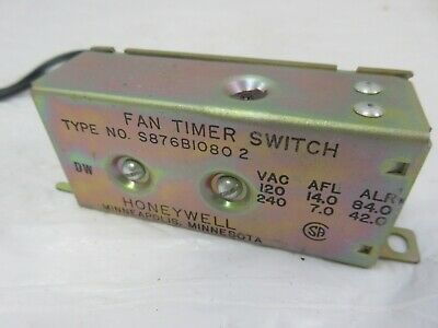Honeywell S876b 1080 Fan Timer Delay Relay Switch