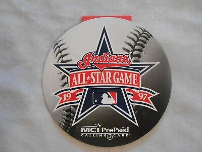 - 1997 Cleveland Indians All Star Game MCI Pre-paid calling card   see photo