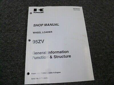 Kawasaki 95zv Wheel Loader Hydraulic Brake Steering Shop Service Repair Manual