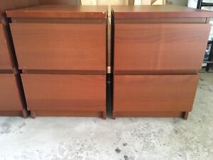 MOVING SALE IKEA MALM DRAWER NIGHTSTAND SET