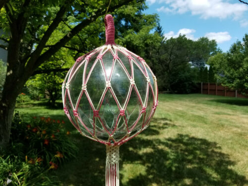 """Hand Tied Vintage Large 10"""" Japanese Glass Fishing Float"""