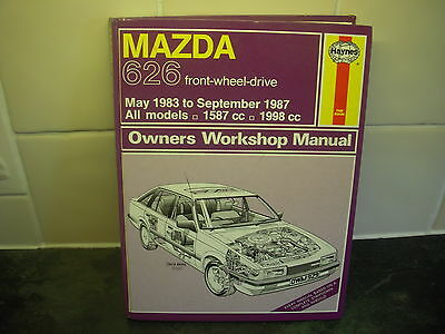 mazda 626 haynes manual 1983-87 1587cc 1998cc all models fwd