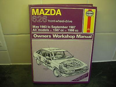 mazda 626 haynes manual 1983-87 1587cc 1998cc all models fwd