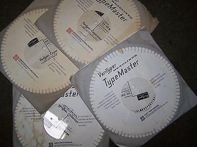 4x  Varityper Headliner Fotosatz Scheiben Typemaster
