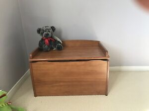 Sweet wooden toy box and bench