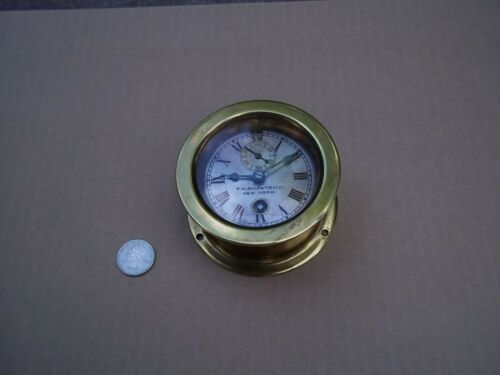 Kirkpatrick of New York brass marine clock very early Chelsea Clock Co movement