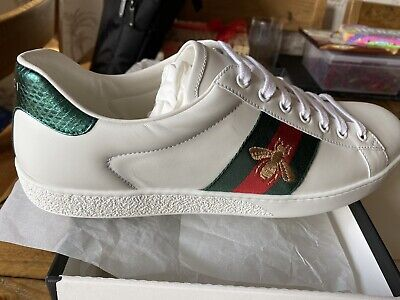 Men's Gucci Ace Bee Trainers Size UK 10 1/2 Brand New Boxed