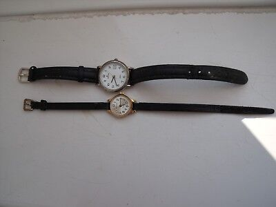 two  watches one junghans other seconda 17 jewel vintage