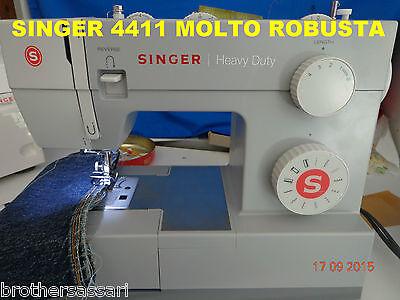 MACCHINA MACCHINE DA PER CUCIRE SINGER 4411 NUOVO MODELLO MOLTO ROBUSTA GARANZIA