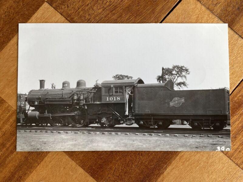 Chicago North Western Railroad Locomotive 1018 Vintage Photo C&NW