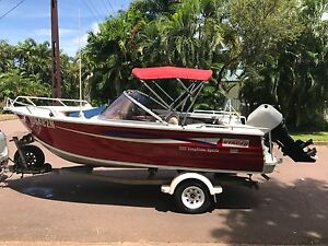 Stacer Easy Rider Sports 5.25m +  Low Hour 90HP 2 Stroke Mariner Larrakeyah Darwin City Preview