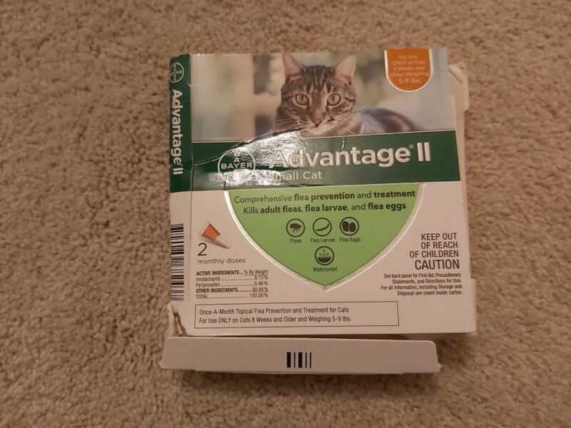 BAYER ADVANTAGE II FOR SMALL CATS 5-9 LBS. 2 DOSES