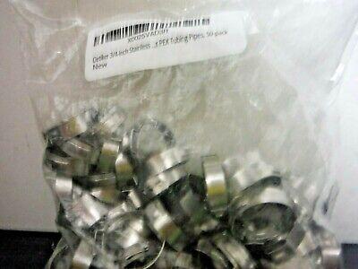 Oetiker 34 Stainless Steel Pex Cinch Clamp Rings For Pex Tubing Pipe 50 Count