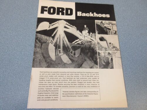 Ford Backhoes Brochure                  lw