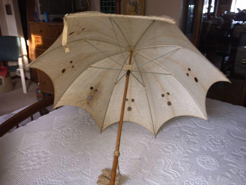 """Victorian Parasol/Umbrella """"Battentberg Lace"""""""