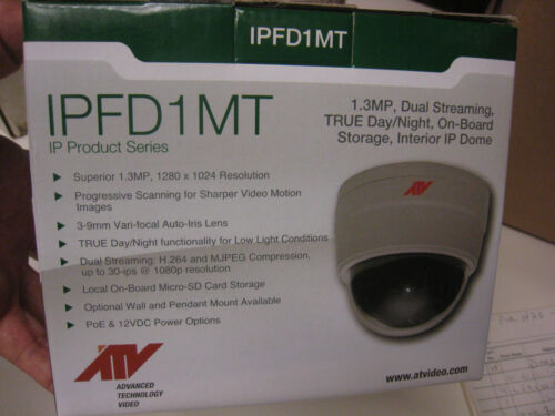 ADVANCED TECHNOLOGY VIDEO CAMERA INT DOME ATV  IPFD1MT free shipping