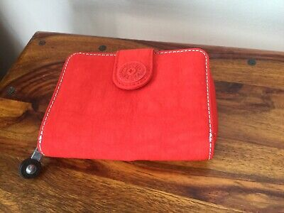 Kipling New Money Purse/Wallet, Red, Credit Card Storage, Coin Pockets RRP £34