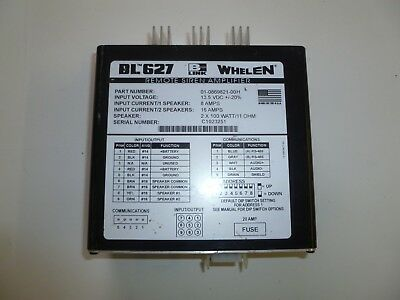 Whelen Bl627 Remote Siren Amplifier 01-0869821-00h  - Quantity Available