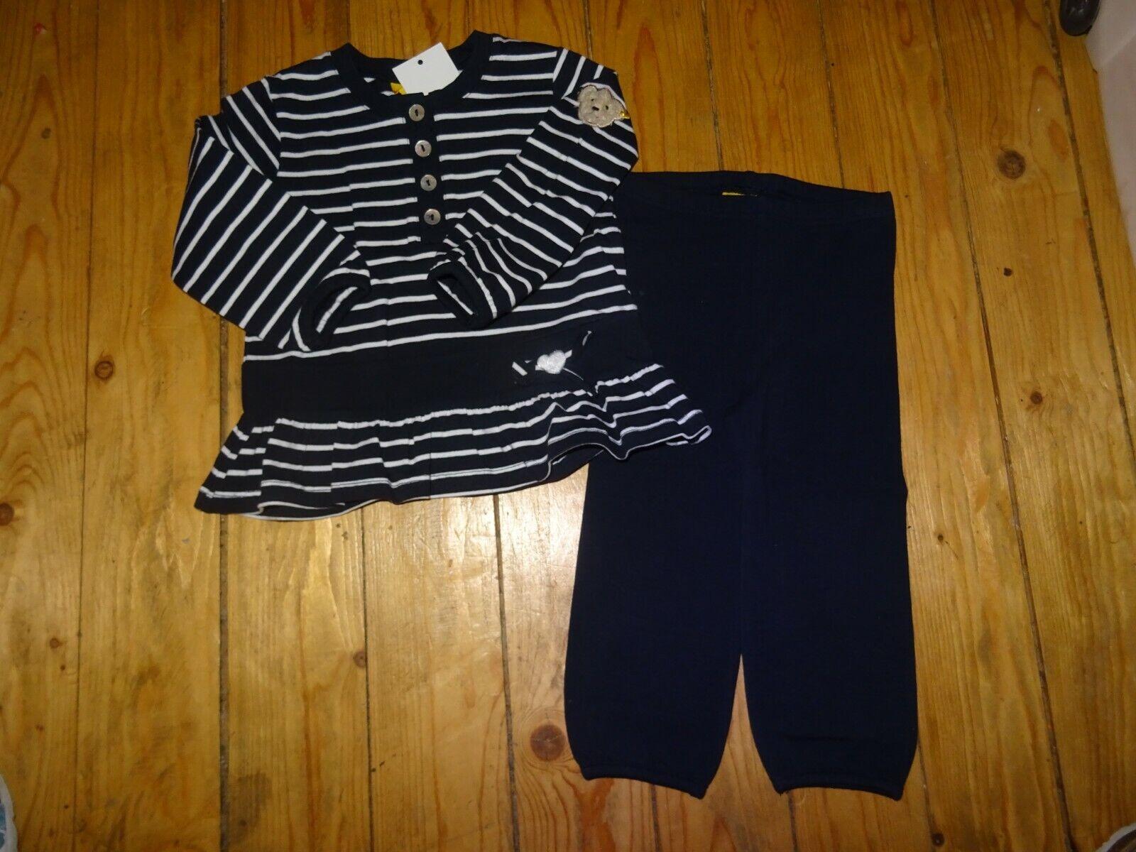 Steiff Girls College Style zauberhaftes 2tlg Outfit Gr: 80 Neu mit Etikett