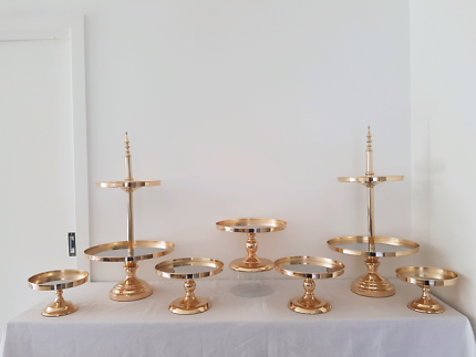 Gold stand prop hire wedding engagement birthday Event  party