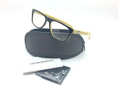 Emporio Armani Brown Eyeglasses EA 3097 5555 55 mm Designer  Demo Lenses
