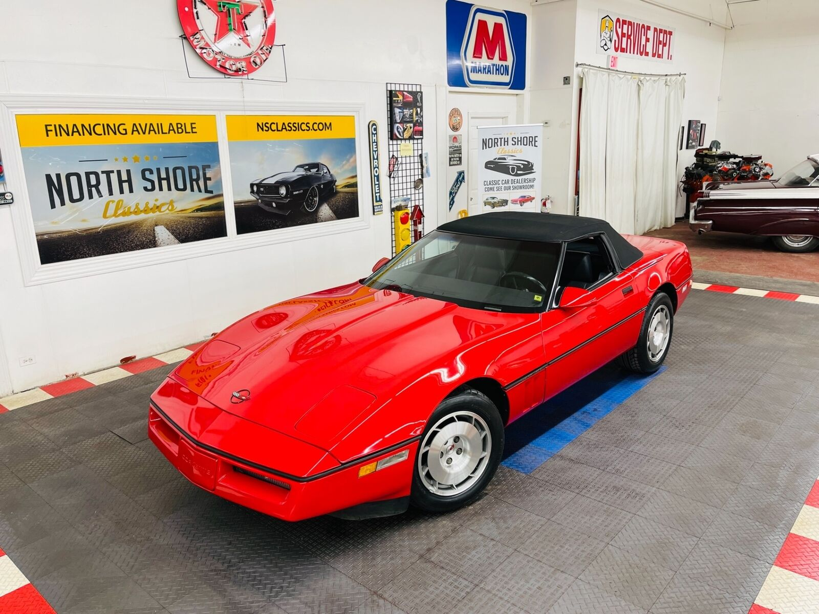 1986 Red Chevrolet Corvette Convertible  | C4 Corvette Photo 3