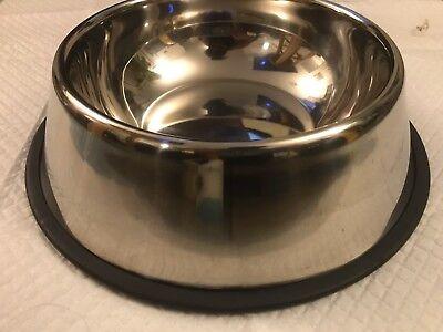 STAINLESS STEEL PET DOG Food or Water BOWL DISH Dishwasher Safe