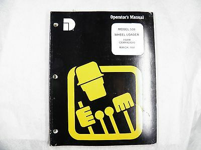 Dresser 538 Wheel Loader Operators Manual