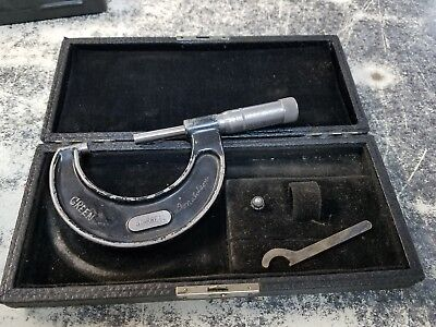 Old Vintage Starrett 436-2 Micrometer In Black Case Machinist Tools Tool Mic