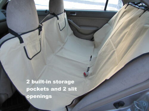 Heavy Duty Dog Travel Hammock w/Storage Pockets,Car Seat Waterproof Cover,Khaki!