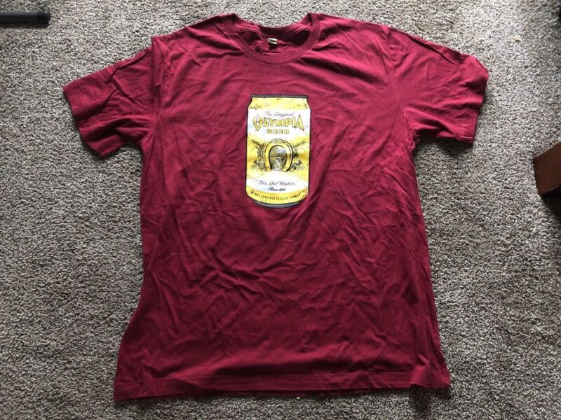 (L@@K) Olympia Beer Can Men's Red T shirt Size XXL Brand New Washington Oly Beer