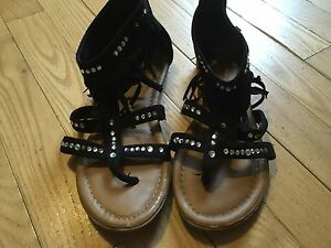 Justice - girls sandals- size 8