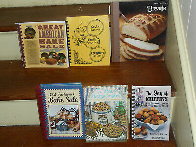 LOT OF 6 BEST BAKERY OLD-FASHIONED BAKE SALE COOK BOOKS MUFFINS COOKIES BREADS (Best Bake Sale Cookies)