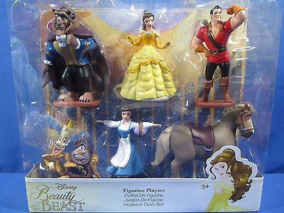 DISNEY BEAUTY AND THE BEAST FIGURINE PLAYSET PRINCESS BELLE CAKE TOPPER *NEW*