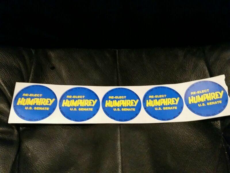 Vintage Hubert Humphrey Political  Stickers Minnesota