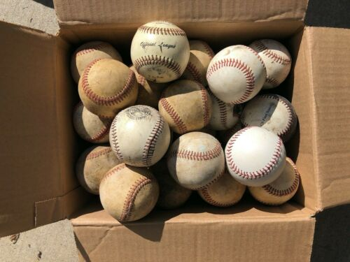 Lot of (33) Used Leather Hardball Baseballs, Great Practice Balls GC FAST SHIP