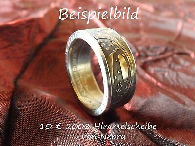 Münzring Coin Ring aus 10 € Himmelsscheibe v. Nebra 925er Silber Größe 56 bis 72