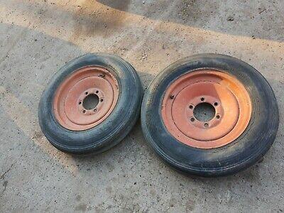 Allis Chalmers Wc Tractor Front Rims An Tires 6 Bolt 550-16 Ac 6 Bolt Rims