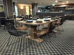 Rustic Cafe Design Ideas Sydney - Restaurant tables and Chairs Revesby Bankstown Area Preview