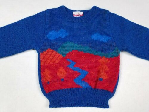 Vtg Marese Toddler Baby Knit Made in France Sweater