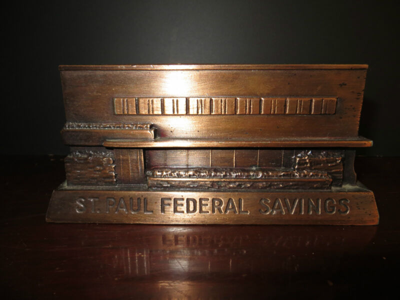 Banthrico metal bank of  St. Paul Federal Savings of Chicago Vintage