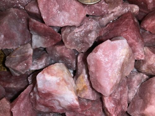 2000 Carat Lots of Unsearched Morganite Rough + a FREE faceted Gemstone